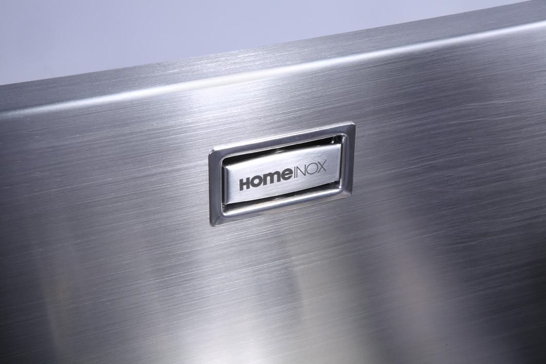 evier grande cuve inox 1 bac sous plan home inox sous plan hi 50x40 r10 sp meilleur prix. Black Bedroom Furniture Sets. Home Design Ideas