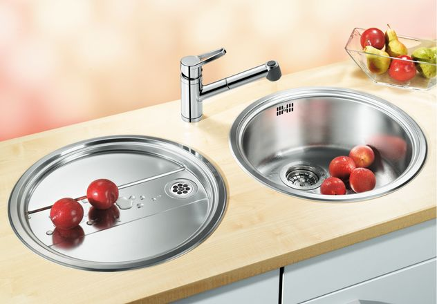 Eviers rond ovale les viers inox aux formes arrondis home inox - Evier rond inox ...