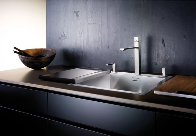 evier grande cuve inox 1 bac a fleur de plan blanco. Black Bedroom Furniture Sets. Home Design Ideas
