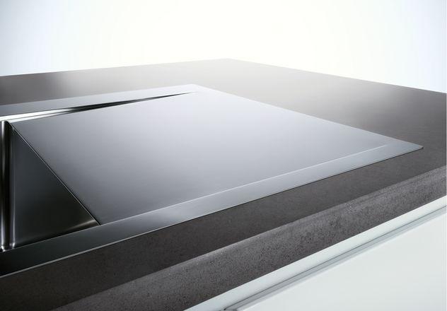 evier grande cuve inox 1 bac avec gouttoir a fleur de plan blanco blancoflow blancoflow 5 s. Black Bedroom Furniture Sets. Home Design Ideas
