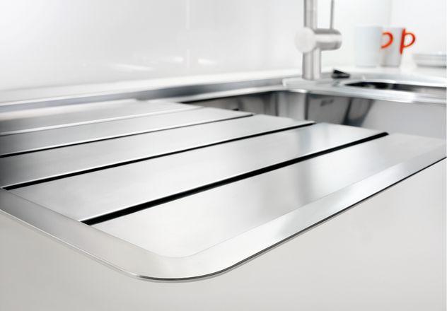 evier inox 1 bac r versible avec gouttoir semi affleurant blanco blancoaxis blancoaxis ii 45. Black Bedroom Furniture Sets. Home Design Ideas