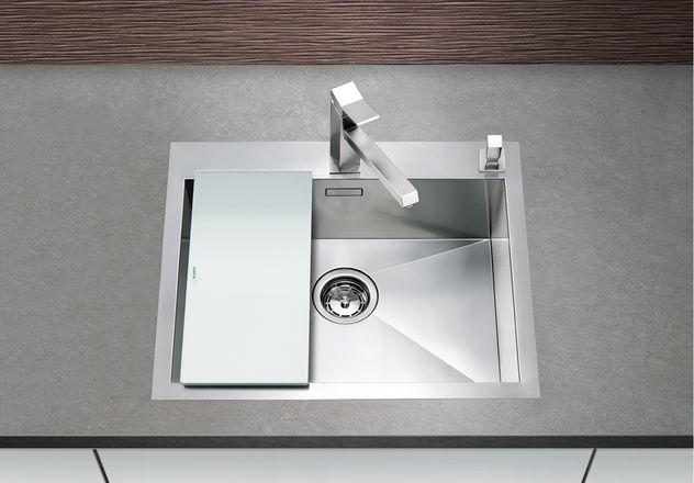 evier grande cuve inox 1 bac a fleur de plan blanco blancozerox blancozerox 550 if a. Black Bedroom Furniture Sets. Home Design Ideas