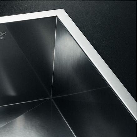 evier inox 1 bac a fleur de plan blanco blancozerox. Black Bedroom Furniture Sets. Home Design Ideas
