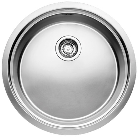 Evier rond inox 1 bac sous plan blanco blancoronis for Evier inox rond