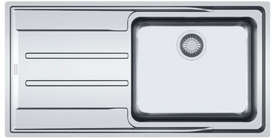 evier grande cuve inox 1 bac avec gouttoir franke aton anx 211 100 meilleur prix. Black Bedroom Furniture Sets. Home Design Ideas