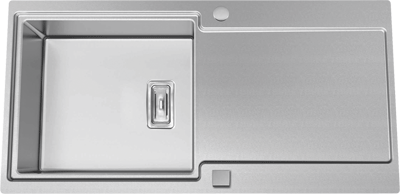 evier grande cuve inox 1 bac r versible avec gouttoir. Black Bedroom Furniture Sets. Home Design Ideas