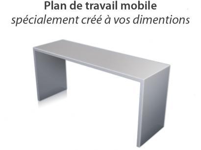 Console Plan De Travail.Homeinox Plan De Travail Mobile Sur Mesure
