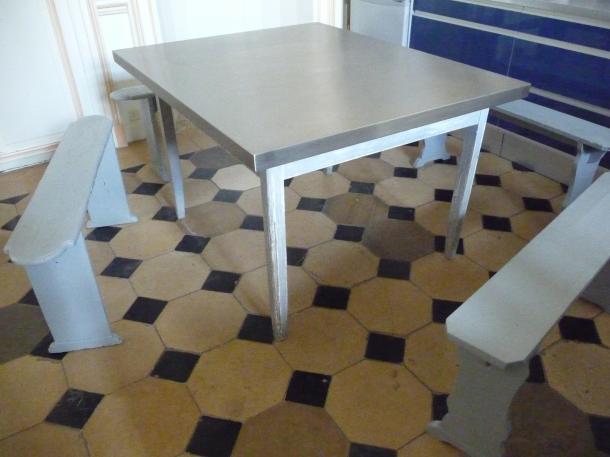 Plateau table inox sur mesure