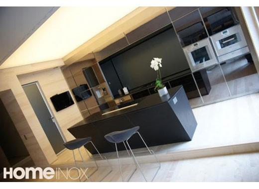 Cuisine inox sur mesure vier mobilier table cr dence for Miroir sur mesure luxembourg