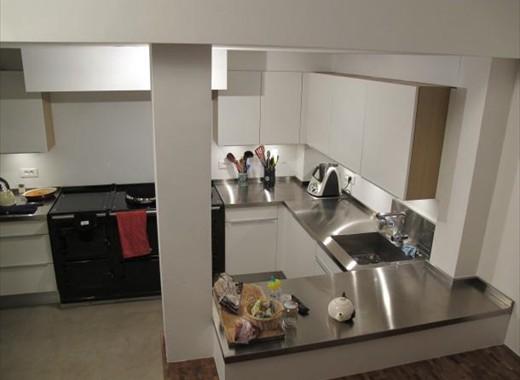 cuisine inox sur mesure vier mobilier table cr dence plan de travail. Black Bedroom Furniture Sets. Home Design Ideas