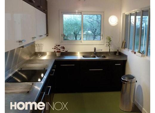Cuisine inox sur mesure : évier, mobilier, table, crédence ...